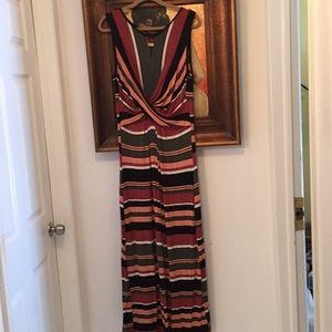 Spense Maxi Dress Multicolor Stripes XL